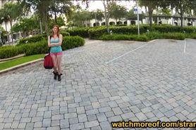 Stranded teen Rainia Belle sex in public