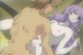 Anime girl gets licking and fucking her pussy