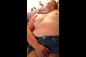 Horny amateur BBW pleasing herself