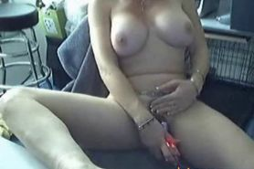 Horny Slut Home Alone Fucks Herself