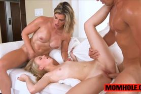Lily Rader and Cory Chase in threesome