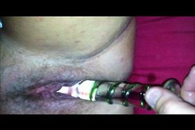 Dildo in wifes pussy