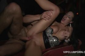 Hot girl taking cock deep in her slit and a cum shot