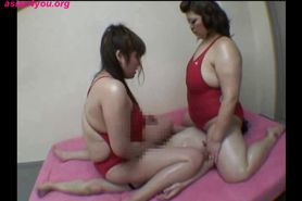 Japanese Femdom Two tall girls dominate