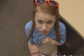 Redheaded Dolly Little Takes Facial