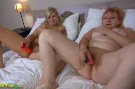 OldNanny Blonde and redheaded women masturbate