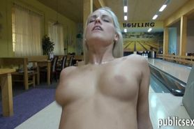 Hot blonde Eurobabe twat nailed for cash