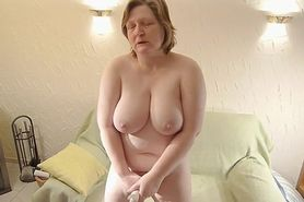 bbw mature chubby wife masturbation