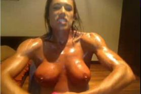 Oiled muscle slutty