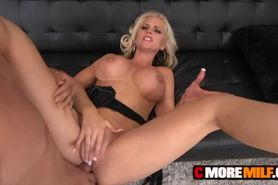 Happy Alena Croft filled by huge cock with facial