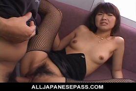 No Sound: Misato Kuninaka on the subway her furry muff