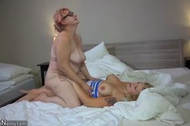 OldNanny Two horny lesbian woman is enjoying