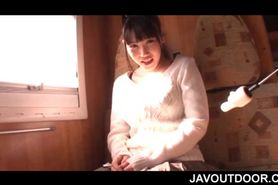 Big titted Japanese amateur slut flashing