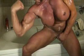 Naked muscle lady