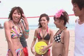 Japanese cuties enjoying wild group