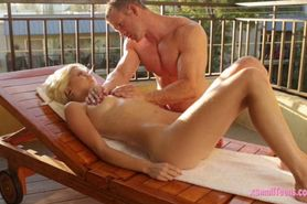 Blond Chloe Foster banged by her masseur
