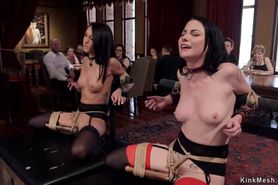Two slaves gets vibrated in party