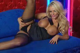 Bimbo Lucy Zara chat on television 4 black lingeri