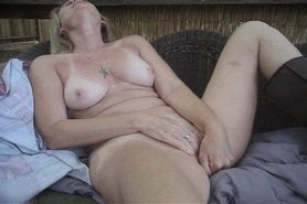 Sandy naked and alone