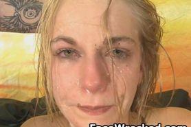 Blonde Gets Face Smashed On Sofa