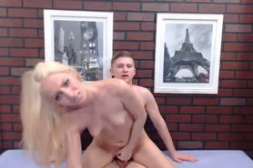 Skinny Hot Blonde Gets Cum on the Face
