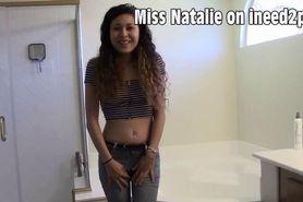 Natalie Storm peeing her panties wetting herself