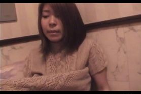 Sweet Japanese teeny having her hairy petite quim finge