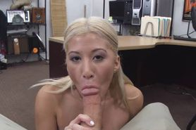Dirty Blonde With Mouth Full Of Dick