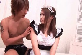 Sensual asian maid gets penetrated