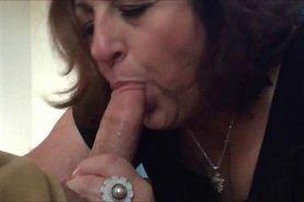 Experienced Grandma sucking dick