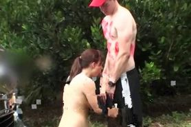 College Ex Blowjob At Outdoor Party