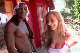 Busty blonde gets pink snatch licked