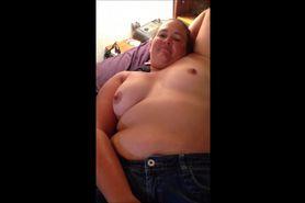 Horny BBW pleasing herself