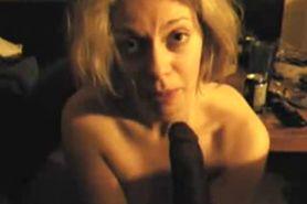 Blonde Milf Sucks Long BBC