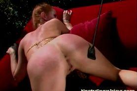Super Horny Lesbian Spanking Scene
