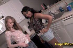 Lesbian iinterracial diaper girls