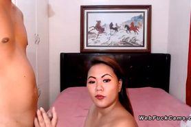 Asian bbw amateur fucking on cam