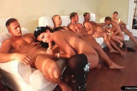Dirty homemade amateur orgy with two daughters