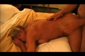 Granny having sex with a young stud