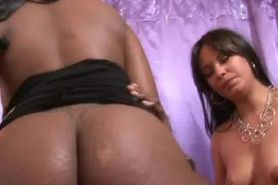 Big Booty Black Girl Riding On Dick In A Threesome