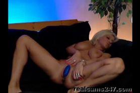 Busty milf on webcam