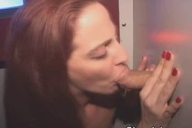 Red Head Sucking At Glory Hole