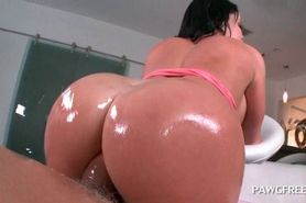 Oily slutty ex-girlfriend taking good pounding after ma