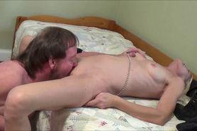 Licking and fucking a horny granny