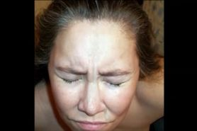 Amateur wife facial comp
