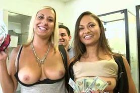 Titty Flashing During Salon Cash Stunt