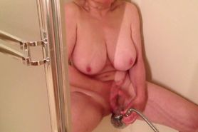 MarieRocks loves her showerhead for cumming