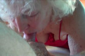 Horny Grandma Giving a Blowjob
