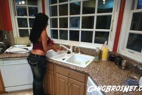Latina Milf Shiela Marie Rides a Big Black Cock