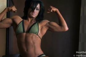 Muscle woman fitness woman alpha woman